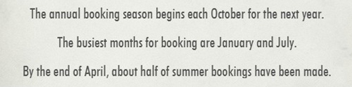 cabin booking facts